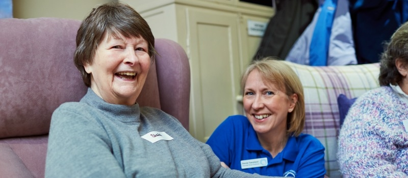Patient and hospice staff member