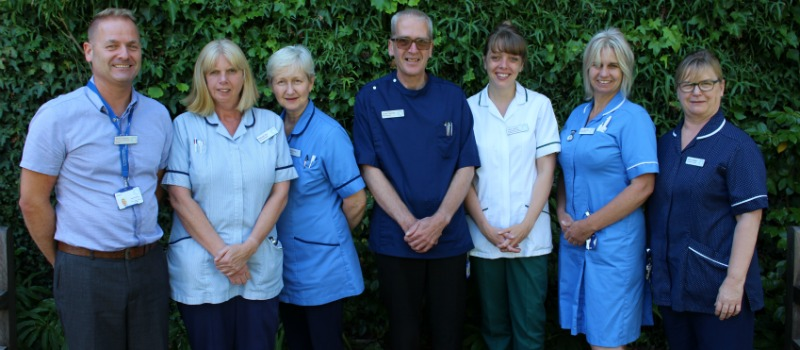 nurse and clinical team