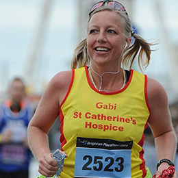 St Catherine's London Marathon runner fundraising for the hospice