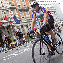St Catherine's Hospice Ride London sponsored cyclist