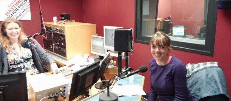 hospice staff member at radio station