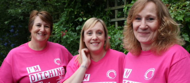 nurses in pink t-shirt for Midnight Walk