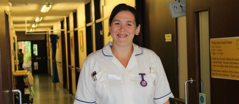 student nurse looking at camera