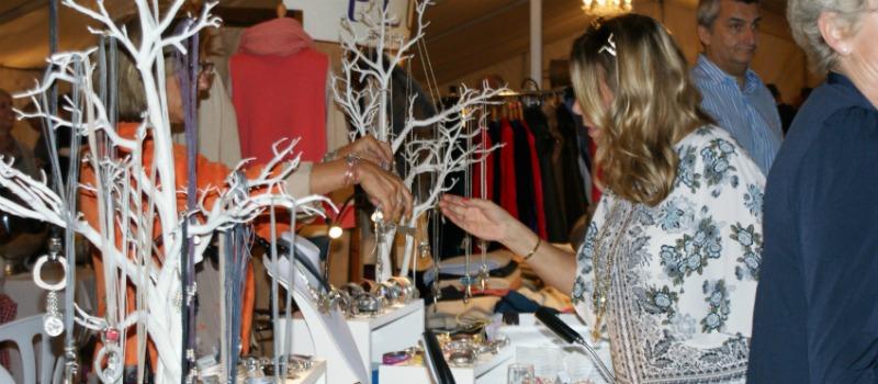 woman shopping at gift fair