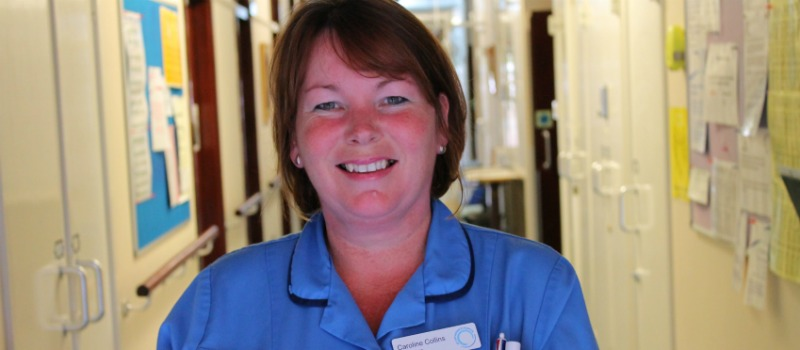 hospice nurse Caroline Collins on the wards