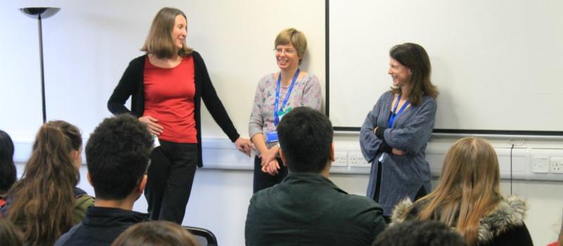 nurses speaking to school pupils