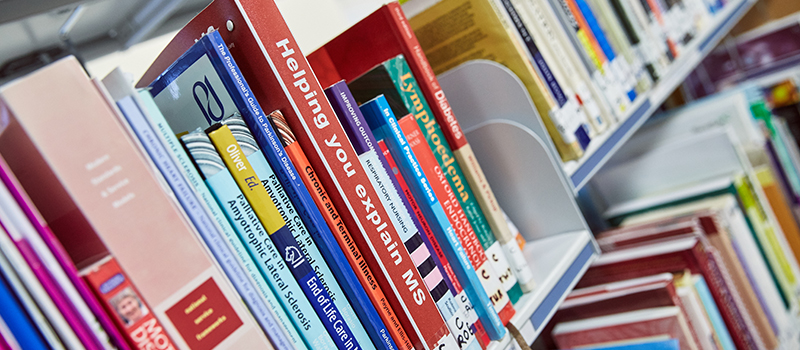 Books at St Catherine's Hospice palliative care and end of life care library