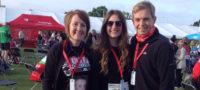 Michaela, St Catherine's Hospice events fundraiser, and walking partners at the London 2 Brighton walking ultra-marathon
