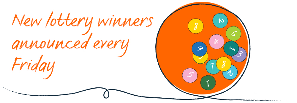 New lottery winners announced every Friday