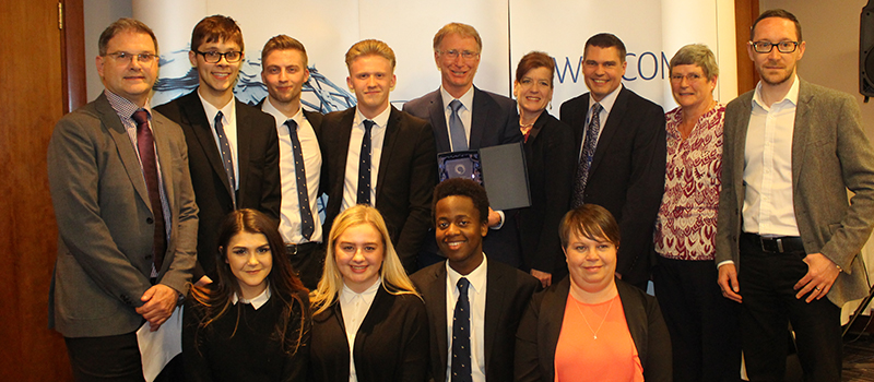 Secondary school students at the five.0 challenge fundraiser giving them key business experience